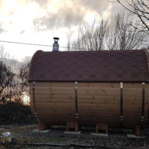 Purecamping barrel sauna